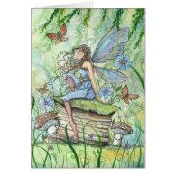 Busy Garden Fairy Greeting Card