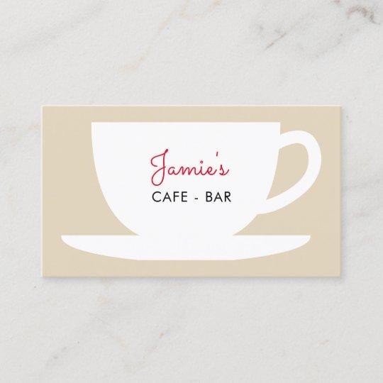 Cafe shop coffee company business card template Zazzle