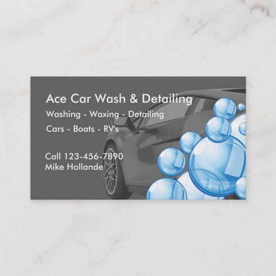 Car Wash And Detailing Business Card Zazzle