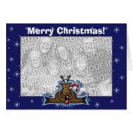 Card Template - Christmas Reindeer