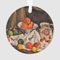 Cezanne - Fruit Bowl, Pitcher and Fruit Ornament | Zazzle