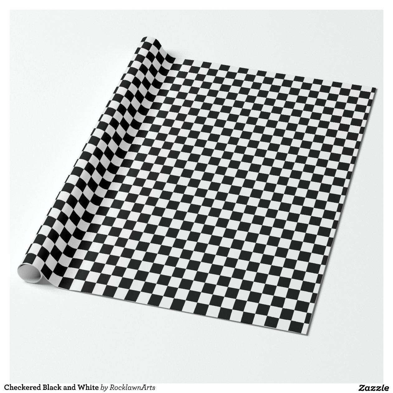 Black And White Wrapping Paper Checkered Black And White Wrapping Paper