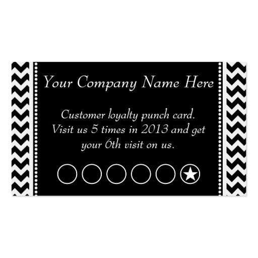 Loyalty business card punch card Business Card Templates BizCardStudio