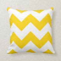 Yellow Chevron Pillows - Decorative & Throw Pillows   Zazzle