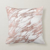 Chic Elegant White and Rose Gold Marble Pattern Throw ...