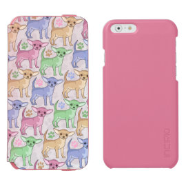 Chihuahua Lover Colorful Pattern Incipio Watson™ iPhone 6 Wallet Case