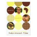 Chocolate and Bananna Circles 5x7 Paper Invitation Card