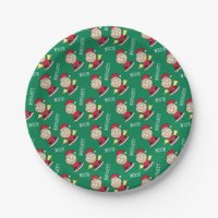 Naughty Or Nice Plates | Zazzle