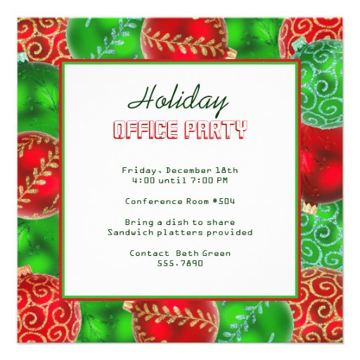 Christmas Office Party Invitations – Holiday Office Party Invitations