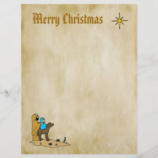 Christmas Letter Paper - Star of Bethlehem Zazzle
