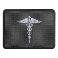 Chrome Caduceus Medical Symbol Carbon Fiber Decor Hitch ...