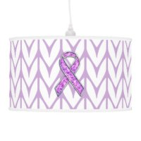 Breast Cancer Awareness Table & Pendant Lamps | Zazzle