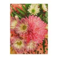 Chrysanthemums Floral Flower Arrangement Wall Art | Zazzle