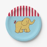 Circus Carnival Elephant Party Paper Plates | 580931