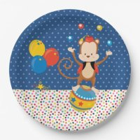 Circus * choose background color paper plate | Zazzle