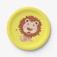 Circus Lion Birthday Party Paper Plate | Zazzle