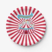 Circus Party Plates 7 Inch Paper Plate | Zazzle