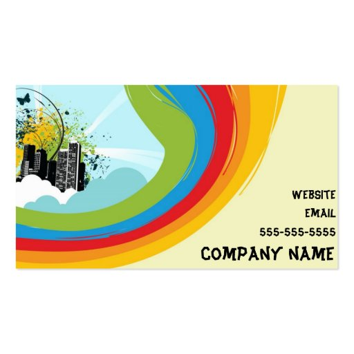 Hippie Business Card Templates - Page3 BizCardStudio