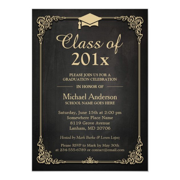 Personalized High school formal Invitations CustomInvitations4U - formal invitations template
