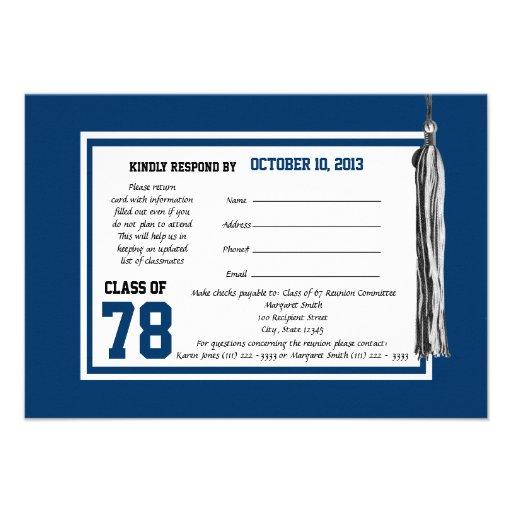 Personalized College reunion Invitations CustomInvitations4U - class reunion invitation template