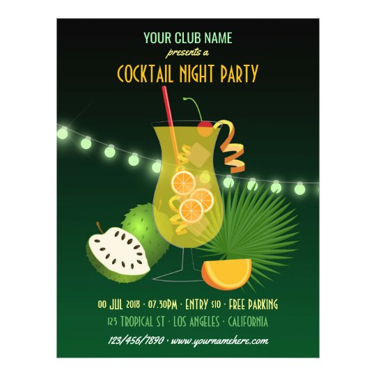 Club/Corporate Cocktail Night Party invitation Flyer Zazzle