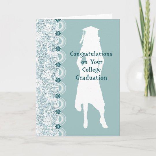 College Graduation Card for Niece with Female Grad Zazzle