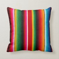 colorful mexican style throw pillow | Zazzle.com