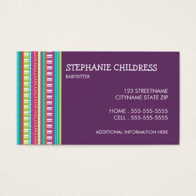 babysitting cards - Towerssconstruction