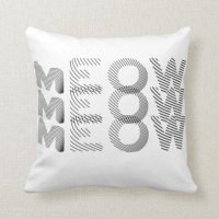 comfy meow pillow | Zazzle