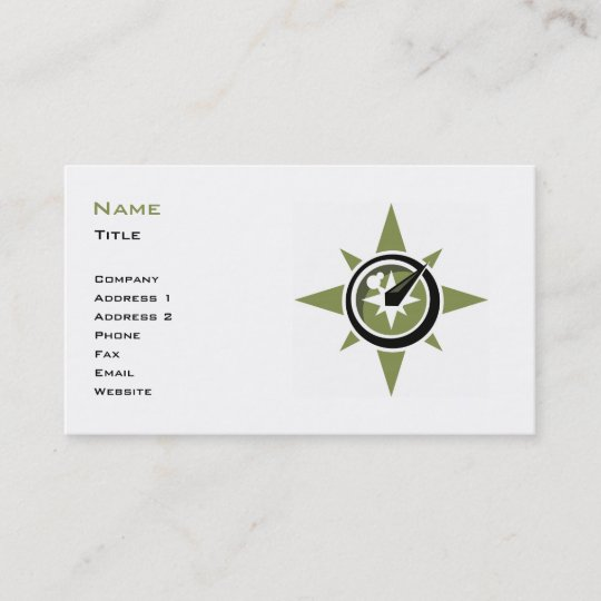 Compass Business Card Template Zazzle