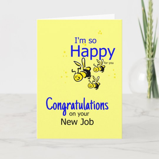Congratulation on a new job card Zazzle