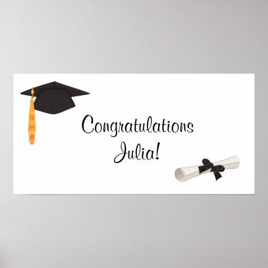 Congratulations Graduation Banner Posters Zazzle