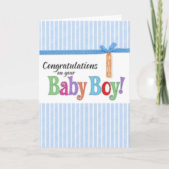 congratulations new baby boy card Zazzle