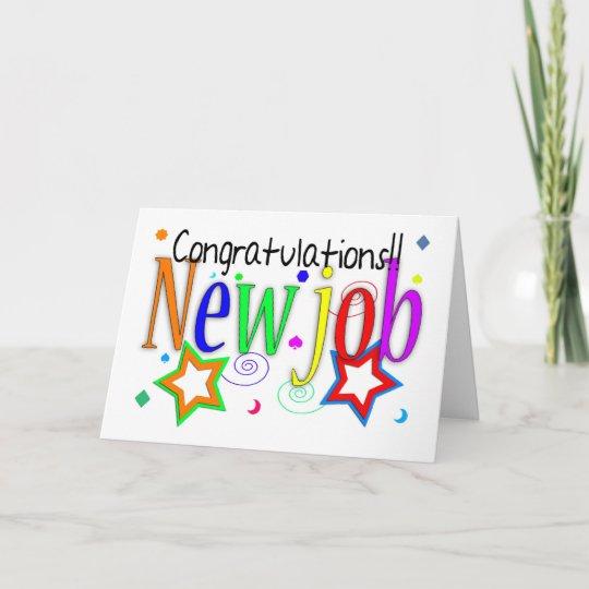 Congratulations New Job Greeting Card - New Job - Zazzle