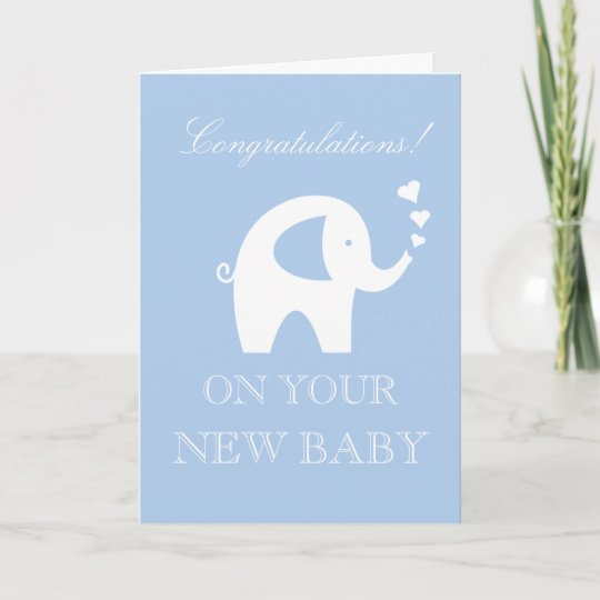 Congratulations on your new baby boy or son custom card Zazzle