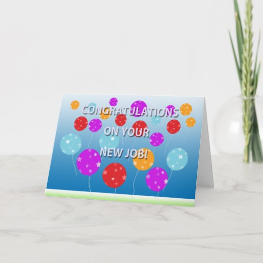 Congratulations On Your New Job Card Zazzle - new job cards