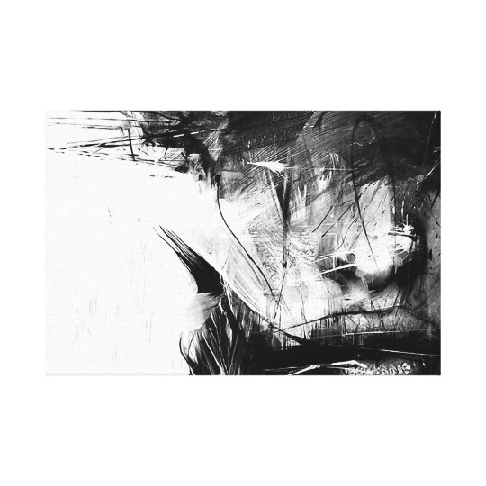 Cool Art Abstract Black White Face Woman Canvas Print Zazzle