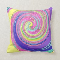 Cool Colorful Swirl Throw Pillow | Zazzle