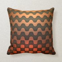 Copper Wave Pattern Throw Pillow | Zazzle