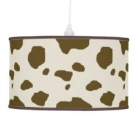 Cattle Table & Pendant Lamps | Zazzle