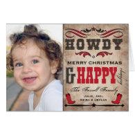 Cowboy & Western Christmas Holiday Photo Card