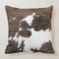 Cowhide Throw Pillow | Zazzle