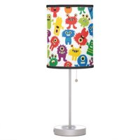 Crazy Colorful Monsters Kids Table Lamp | Zazzle