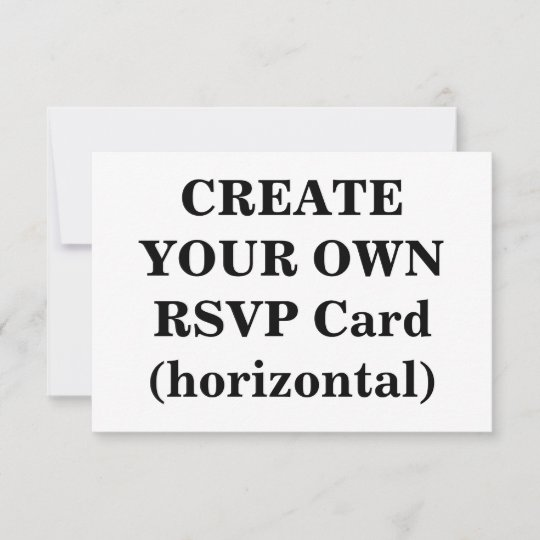 Create Your Own RSVP Card (horizontal) Zazzle