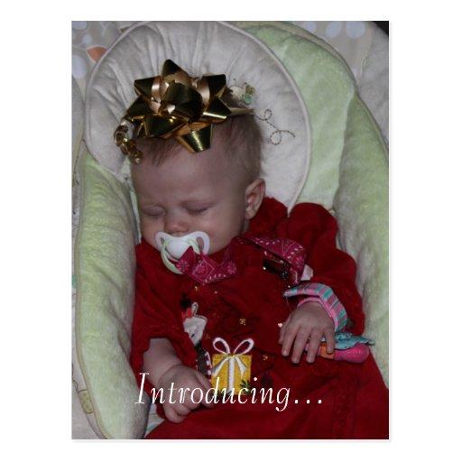 Custom Baby Girl Boy Birth Adoption Announcement Post Card on PopScreen