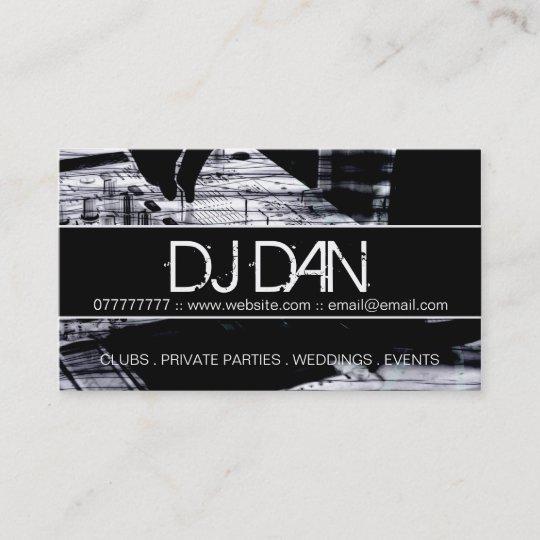 Custom DJ Business Cards Zazzle