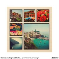 Custom Instagram Photo Collage Print on Wood Wood Wall Art ...