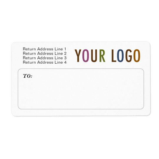 Custom Mailing Shipping Labels with Company Logo Zazzle