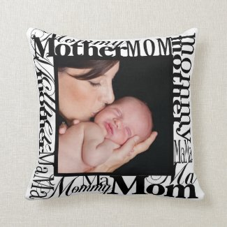 Custom Mother's Day Photo Reversible Pillow