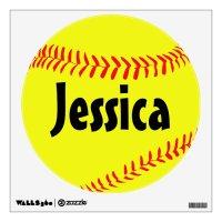 Custom Softball Wall Decal | Zazzle